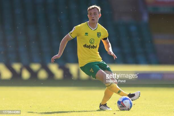 Oliver Skipp of Norwich City during the Sky Bet Championship match between Norwich City and Preston North End at Carrow Road on September 19, 2020 in...