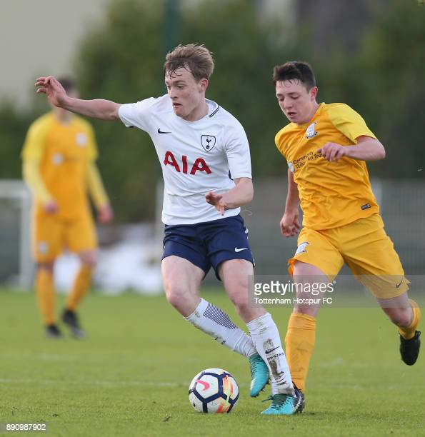 Oliver Skipp of Tottenham during the FA Youth Cup match between Tottenham Hotspur and Preston North End on December 12 2017 in Enfield England