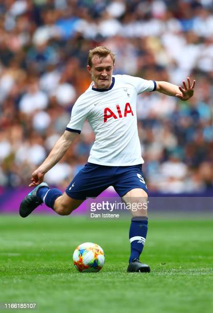 Oliver Skipp of Tottenham Hotspur passes the ball during the 2019 International Champions Cup match between Tottenham Hotspur and FC Internazionale...