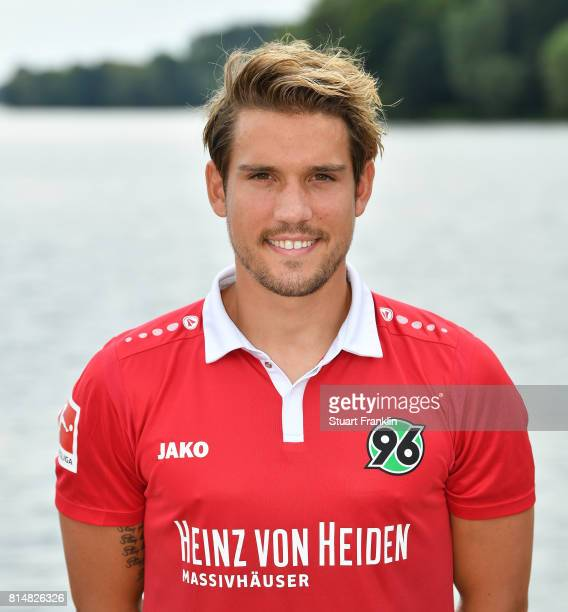 Oliver Sorg of Hannover 96 poses during the team presentation at on July 14 2017 in Hanover Germany