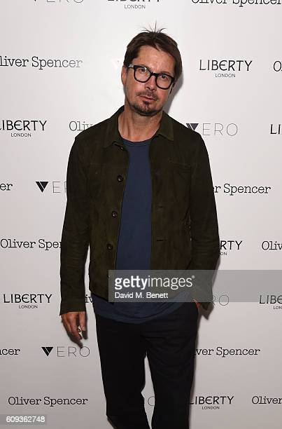 Oliver Spencer attends the Oliver Spencer Vero British GQ 'Buy Now' Catwalk Show after party at Liberty on September 20 2016 in London England