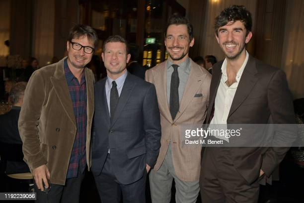 Oliver Spencer Dermot O'Leary David Gandy and Teo Van Den Broeke attend the British GQ dinner cohosted by Dylan Jones Jack Guinness in partnership...