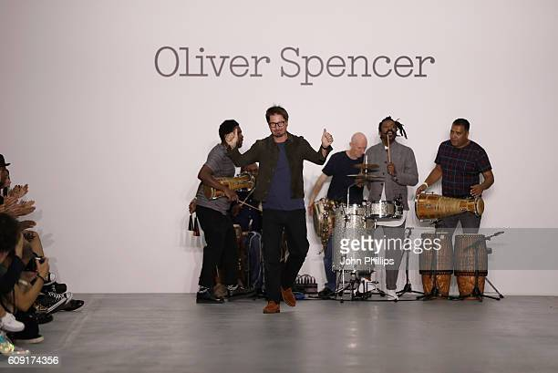 Oliver Spencer walks the runway at the Oliver Spencer show during London Fashion Week Spring/Summer collections 2017 on September 20 2016 in London...