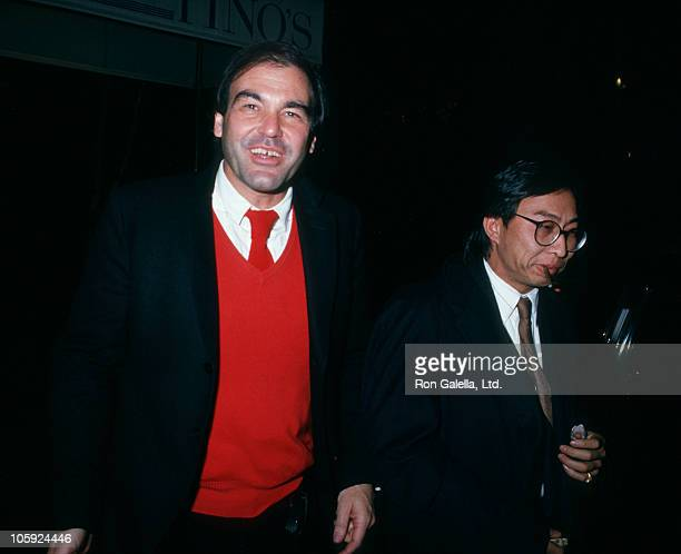 Oliver Stone and A Kitman during Screening of 'Wall Street' December 6 1987 at Gotham Theater in New York City New York United States