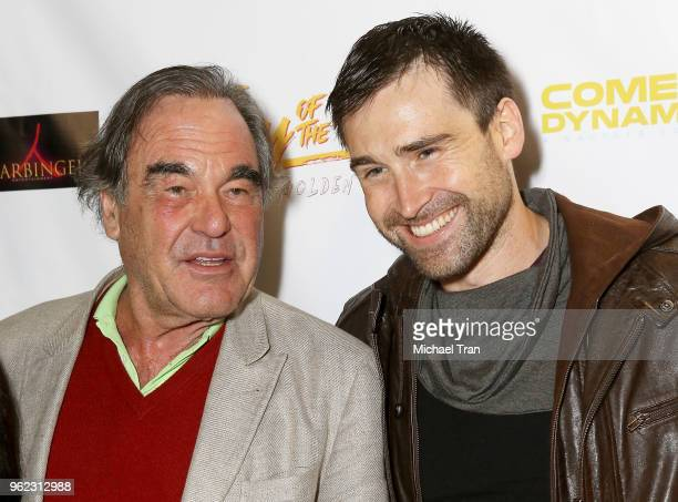 Oliver Stone and Sean Stone attend the Los Angeles premiere of Comedy Dynamics' The Fury Of The Fist And The Golden Fleece held at Laemmle's Music...