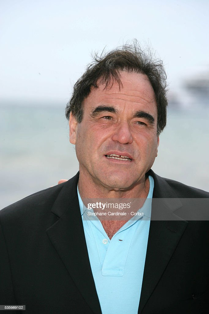Oliver Stone at the 59th Cannes Film Festival for the 20th anniversary of the film 'Platoon'.