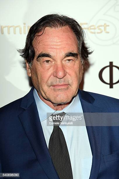 Oliver Stone attends 62 Taormina Film Fest Day 6 on June 16 2016 in Taormina Italy