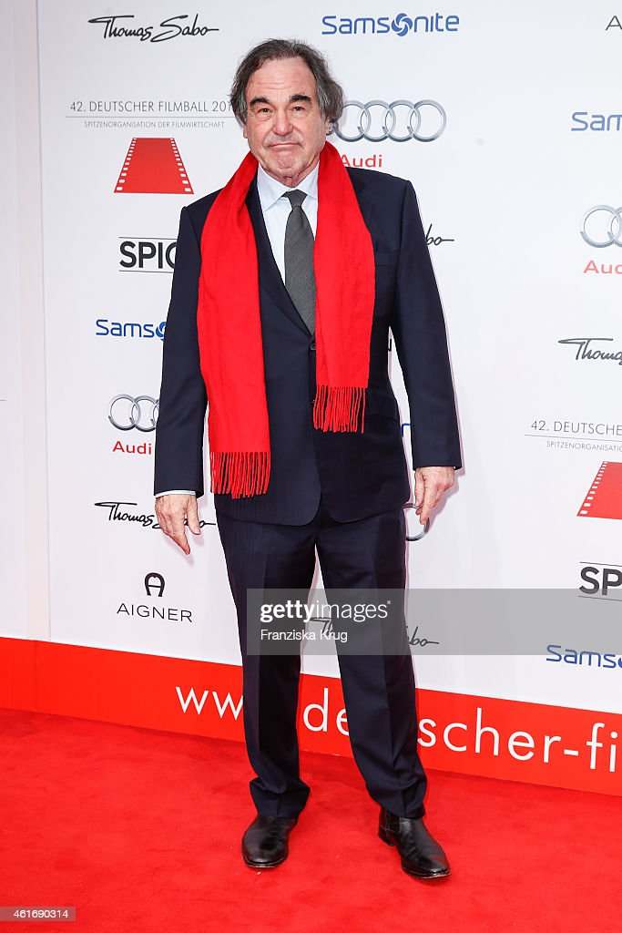Oliver Stone attends the German Film Ball 2015 on January 17, 2015 in Munich, Germany.