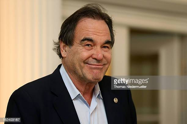 Oliver Stone attends the press conference for the movie 'Savages' at Baur Au Lac Hotel on September 20, 2012 in Zurich, Switzerland.