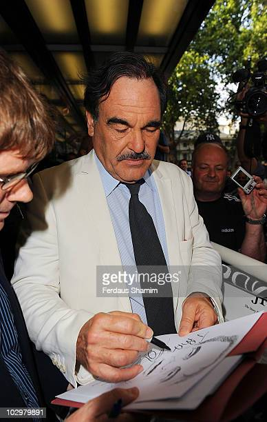 Oliver Stone attends the UK Premiere of South Of The Border at The Curzon Mayfair on July 19, 2010 in London, England.
