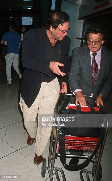 Oliver Stone during Oliver Stone Sighted at Los Angeles International Airport October 9 1998 at Los Angeles International Airport in Los Angeles...