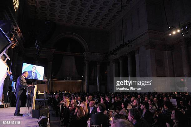 Oliver Stone speaks onstage at IFP's 26th Annual Gotham Independent Film Awards at Cipriani Wall Street on November 28 2016 in New York City