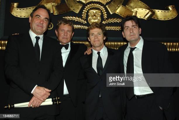 Oliver Stone, Tom Berenger, Willem Dafoe and Charlie Sheen