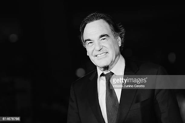 Oliver Stone walks a red carpet for 'Snowden' And 'Powidoki Afterimage' during the 11th Rome Film Festival at Auditorium Parco Della Musica on...