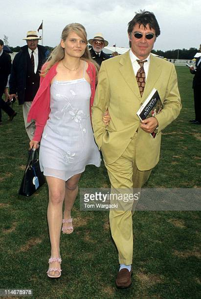 Oliver Tobias and girlfriend at Cartier Polo during Oliver Tobias at Cartier Polo July 25th 1999 in Windsor Great Britain