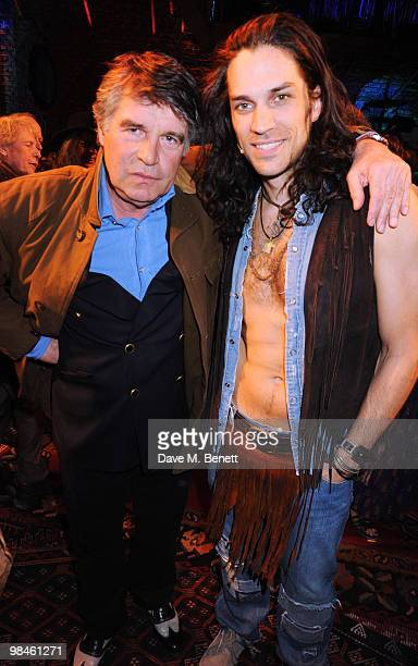 Oliver Tobias and Will Swenson attend the press night of Hair at the Gieldgud Theatre on April 14, 2010 in London, England.