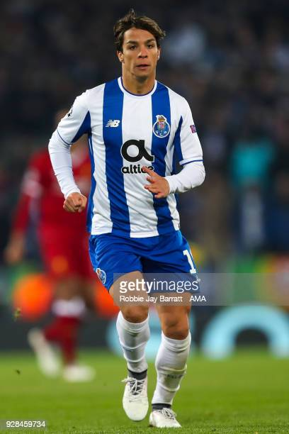 Oliver Torres of FC Porto during the UEFA Champions League Round of 16 Second Leg match between Liverpool and FC Porto at Anfield on March 6 2018 in...