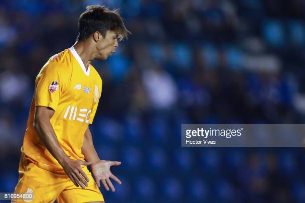 Oliver Torres of Porto reacts during a match between Cruz Azul and Porto as part of Super Copa Tecate at Azul Stadium on July 17 2017 in Mexico City...