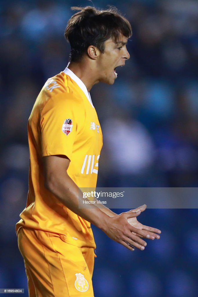 Oliver Torres of Porto reacts during a match between Cruz Azul and Porto as part of Super Copa Tecate at Azul Stadium on July 17, 2017 in Mexico City, Mexico.