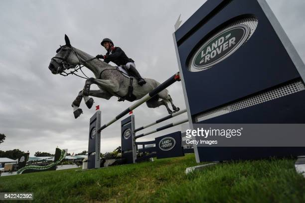 Oliver Townend of Great Britain riding Ballaghmor Class in the Show Jumping as he wins The Land Rover Burghley Horse Trials 2017 on September 2 2017...
