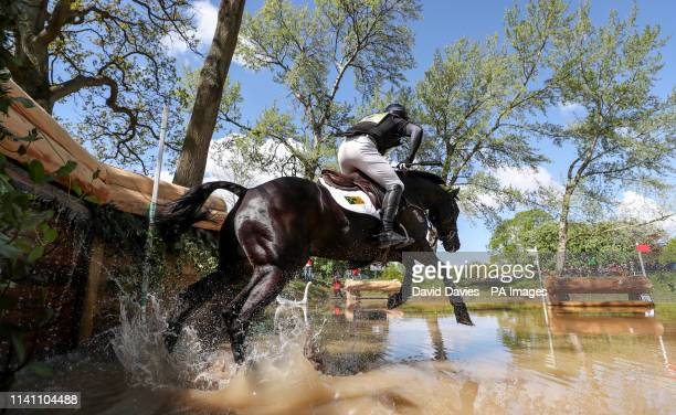 Oliver Townend on Cillnabradden Evo at the Hildon Water Pond on the Cross Country during day four of the 2019 Mitsubishi Motors Badminton Horse...