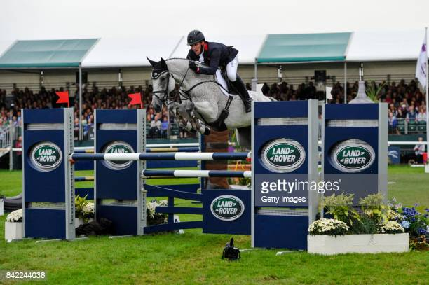 Oliver Townend riding Ballaghmor Class in the Show Jumping during Day Four of The Land Rover Burghley Horse Trials 2017 on September 3 2017 in...