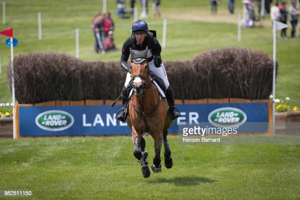Oliver Townend riding Cooley Master Class during the cross country phase of the 2018 Land Rover Kentucky Three Day Event at the Kentucky Horse Park...