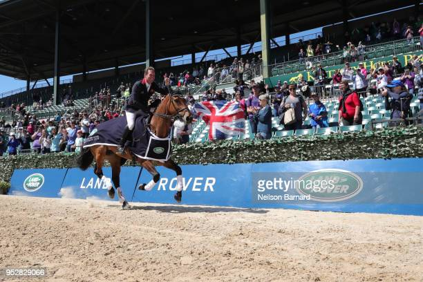 Oliver Townend riding Cooley Master Class wins the first Land Rover Kentucky Three Day Event at the Kentucky Horse Park on April 29 2018 in Lexington...