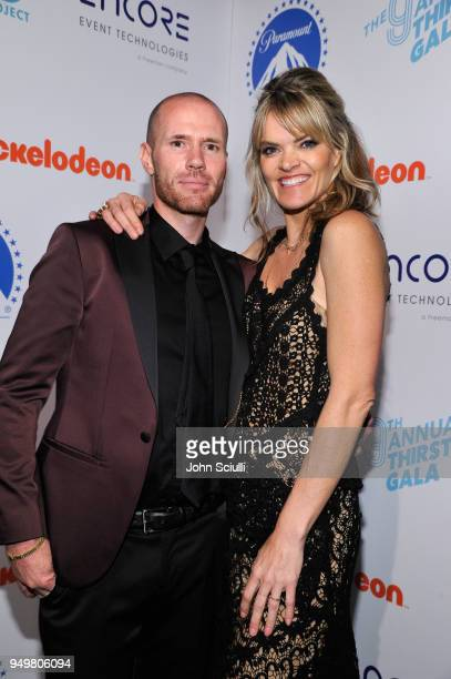Oliver Trevena and Missi Pyle attend The Thirst Project's 9th Annual Thirst Gala at The Beverly Hills Hotel on April 21 2018 in Beverly Hills...