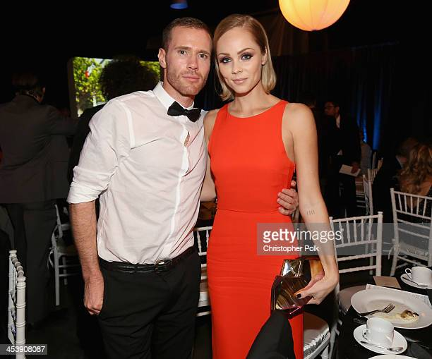 Oliver Trevenna and actress Laura Vandervoort attend the 2nd Annual Saving Innocence Gala at The Crossing on December 5 2013 in Los Angeles California