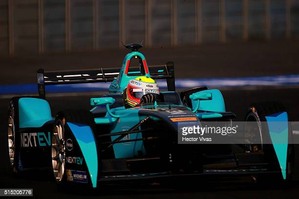 Oliver Turvey of Great Britain and Nextev TCR Formula E Team during the Mexico City Formula E Championship 2016 at Autodromo Hermanos Rodriguez on...