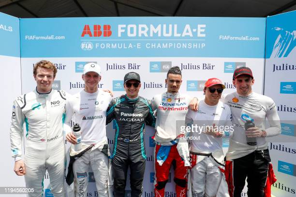 Oliver Turvey of United Kingdom for NIO 333 team, Maximilian Günther of Germany for BMW i Andretti Motorsport team, Mitch Evans of New Zealand for...