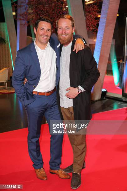 Oliver Vogel and Stefan Konarske during the Bavaria Film Reception One Hundred Years in Motion on the occasion of the 100th anniversary of the...