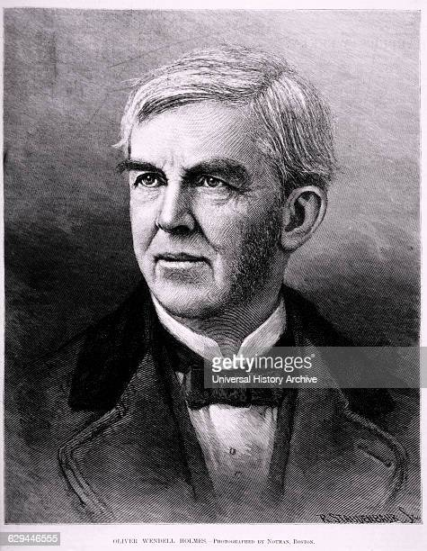 Oliver Wendall Holmes American Poet and Author Portrait