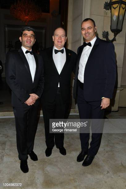 Oliver Wenden Prince Albert II of Monaco and Milutin Gatsby attend 2020 Hollywood For The Global Ocean Gala Honoring HSH Prince Albert II Of Monaco...