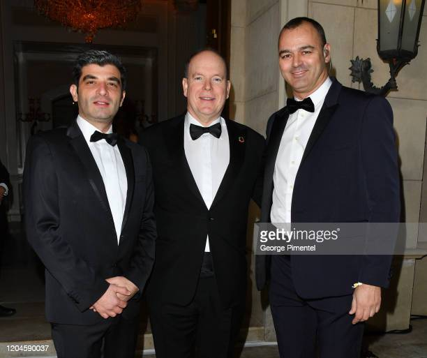 Oliver Wenden Prince Albert II of Monaco and Milutin Gatsby attends 2020 Hollywood For The Global Ocean Gala Honoring HSH Prince Albert II Of Monaco...