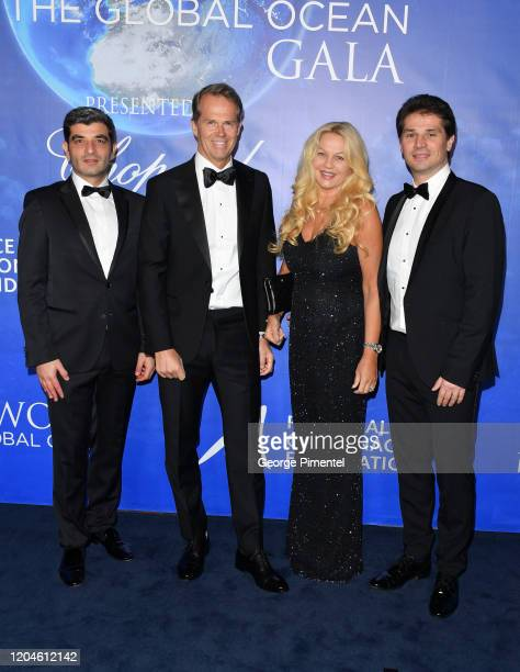 Oliver Wenden Stefan Edberg Annette Hjort Olsen and Arnaud Boetsch attend the 2020 Hollywood For The Global Ocean Gala Honoring HSH Prince Albert II...