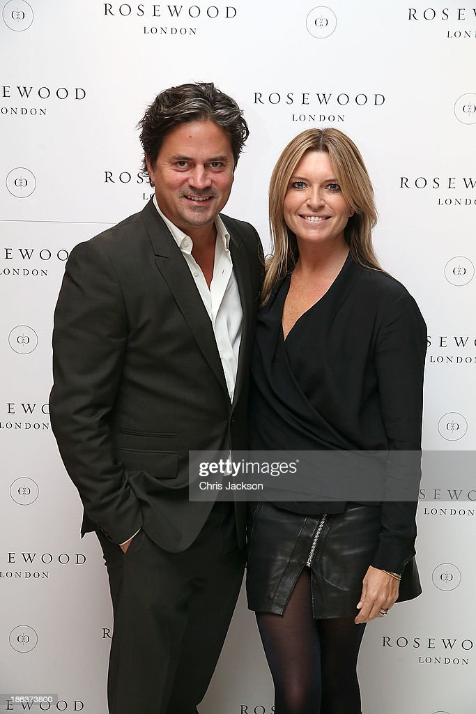 Oliver Wheeler and Tina Hobley attends the opening of Rosewood London on October 30, 2013 in London, England.