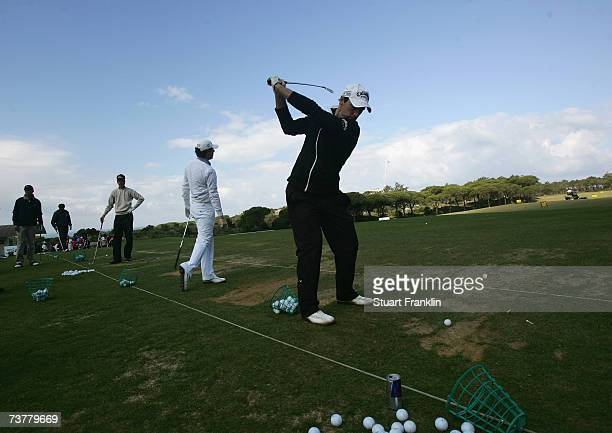 Oliver Wilson of England practices before the Pro Am of The Estoril Open de Portugal at The Quinta da Marinha Golf Course on March 28 2007 in Cascais...