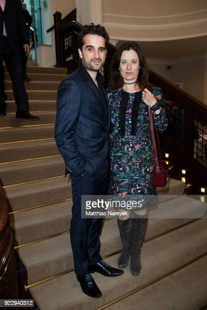 Oliver Wnuk and Inka Friedrich attend the FFF reception during the 68th Berlinale International Film Festival on February 22 2018 in Berlin Germany