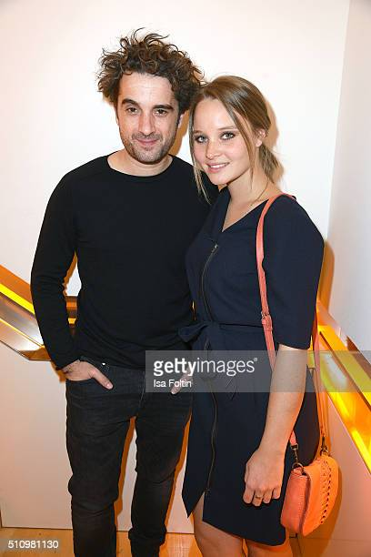 Oliver Wnuk and Sonja Gerhardt attend the PantaFlix Party on February 17 2016 in Berlin Germany