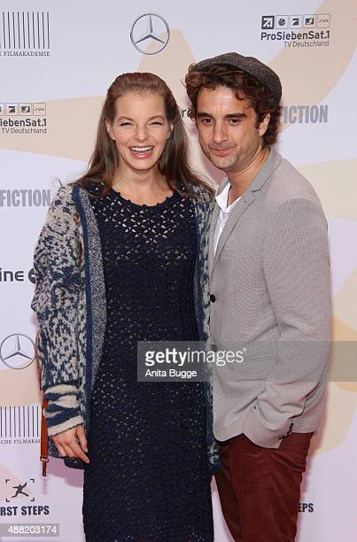 Oliver Wnuk and Yvonne Catterfeld attend the First Steps Awards 2015 at Stage Theater on September 14 2015 in Berlin Germany