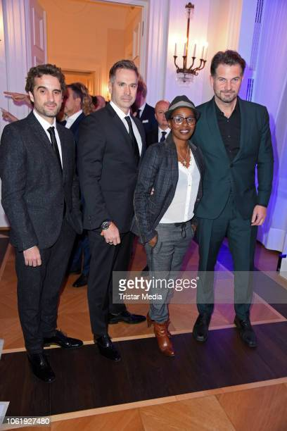 Oliver Wnuk Manou Lubowski Shary Reeves and Simon Boeer attend the 20th Media Award by Kindernothilfe at Castle Bellevue on November 15 2018 in...