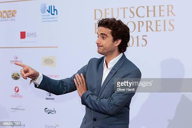 Oliver Wnuk poses during the Deutscher Radiopreis 2015 at Schuppen 52 on September 3, 2015 in Hamburg, Germany.