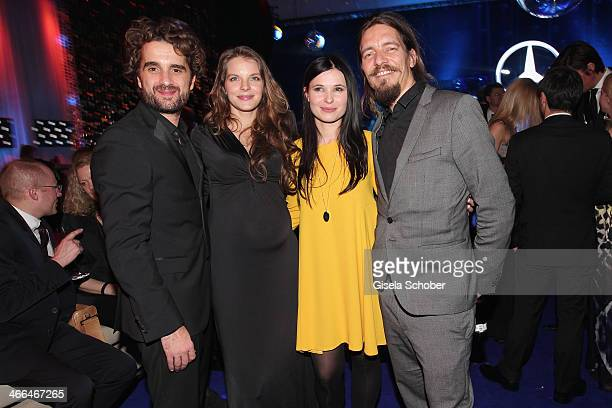 Oliver Wnuk, Yvonne Catterfeld , Anna Fischer and boyfriend Leonard Andreae attend the after show party of Goldene Kamera 2014 Hangar 7 at Tempelhof...