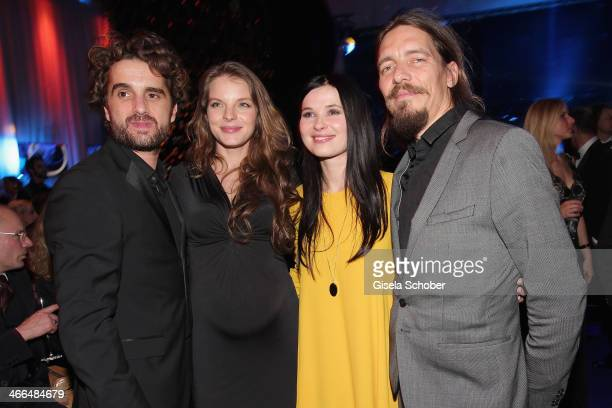Oliver Wnuk; Yvonne Catterfeld , Anna Fischer and boyfriend Leonard Andreae attend the after show party of Goldene Kamera 2014 Hangar 7 at Tempelhof...