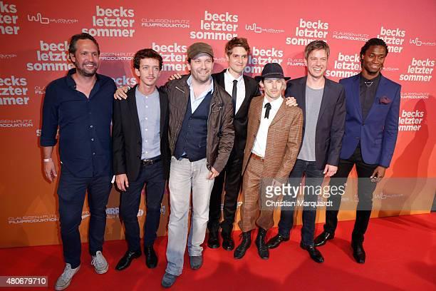 Oliver Ziegenbalg, Nahuel Pérez Biscayart, Christian Ulmen; Benedict Wells, Tobias Jundt aka Bonaparte, Frieder Wittich and Eugene Boateng attend the...
