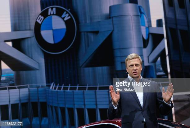 Oliver Zipse head of BMW speaks at the 2019 IAA Frankfurt Auto Show on September 10 2019 in Frankfurt am Main Germany The IAA will be open to the...