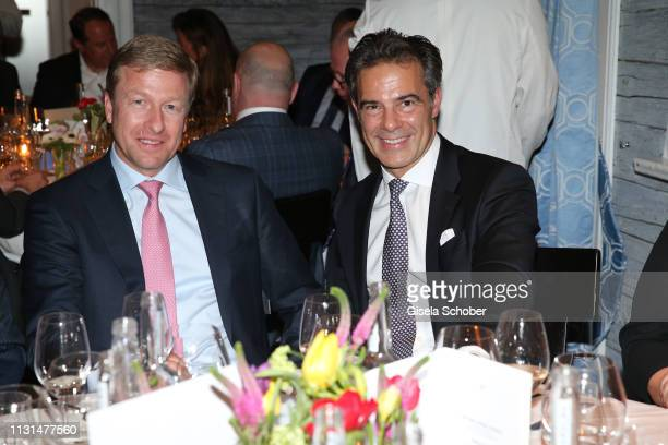 Oliver Zipse Member of the board BMW AG Dr Sascha Haghani during the UniCredit and GallerCompany business dinner on March 18 2019 at Feinkost Kaefer...