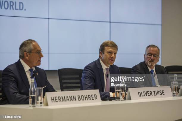 Oliver Zipse member of the board of management at Bayerische Motoren Werke AG speaks during a news conference in San Luis Potosi Mexico on Thursday...